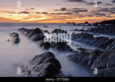Hartland Quay, Devon, UK - Stock Photo