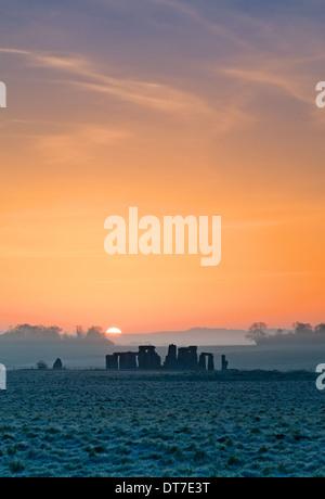Stonehenge, Wiltshire, UK - Stock Photo