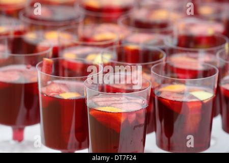 Glasses of sangria stock photo royalty free image 4819828 alamy - Plastic sangria glasses ...