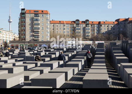 Monument to the Murdered Jews of Europe, Berlin, Germany - Stock Photo