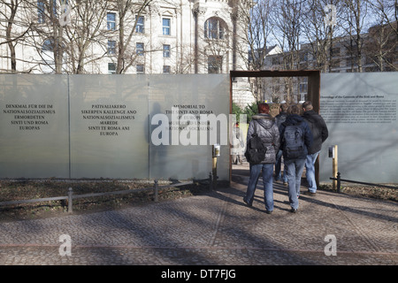 Memorial to the Sinti and Roma of Europe Murdered Under National Socialism, Tiergarten, Berlin, Germany - Stock Photo