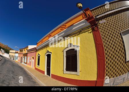 Portugal, Algarve: Traditional houses in the historic village of Castro Marim - Stock Photo