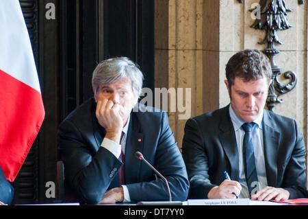 Paris, France. 11th Feb, 2014. Stéphane Le Foll, French Ministre of Agriculture, Paris, 11th Feb. 2014. Credit: - Stock Photo