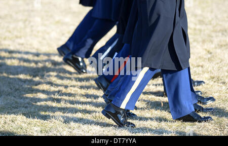 Washington DC, USA . 11th Feb, 2014.Members of honour guard are seen during a welcome ceremony held by U.S. President - Stock Photo