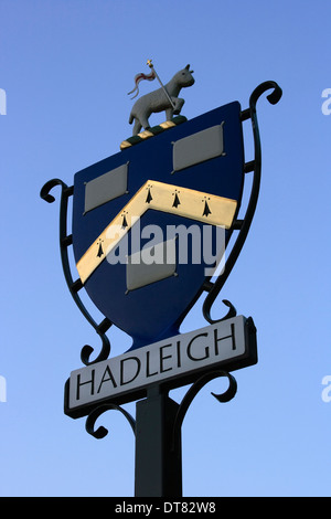 Hadleigh Market Square Town Sign - Stock Photo