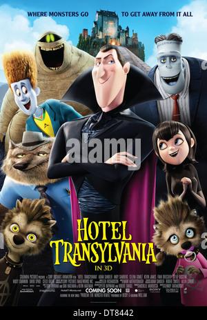 MURRAY THE MUMMY WAYNE DRACULA FRANK & MAVIS POSTER HOTEL TRANSYLVANIA (2012) - Stock Photo