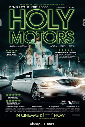 MOVIE POSTER HOLY MOTORS (2012) - Stock Photo