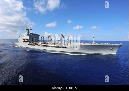 Military Sealift Command fleet replenishment oiler USNS Rappahannoc. - Stock Photo