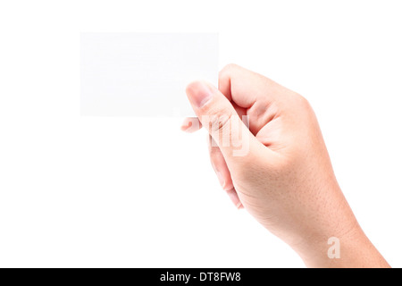 Bussiness Card on Hand - Stock Photo
