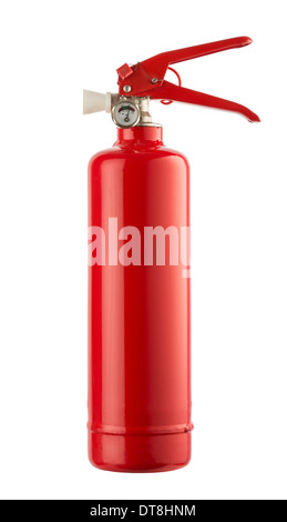 Fire extinguisher on white background - Stock Photo