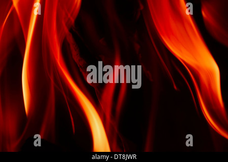 Simple flame / fire on black background - Stock Photo