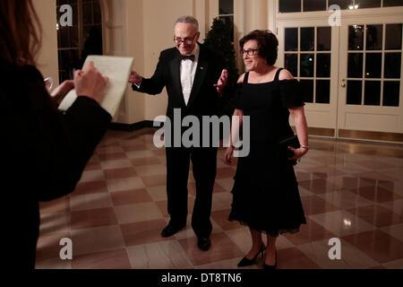 Washington DC, USA. 11th Feb, 2014. United States Senator Charles Schumer (Democrat of New York), left, and Iris - Stock Photo