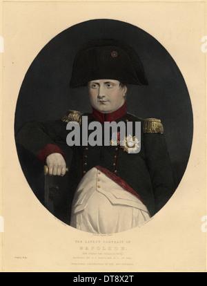 Latest portrait of Napoleon on board the Bellerophon, 1815. Artist: Eastlake, Sir Charles Lock (1793-1865) - Stock Photo