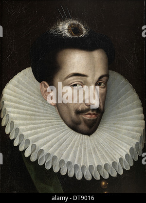 Portrait of Henry III of France, King of Poland and Grand Duke of Lithuania, 1580s. Artist: Quesnel, François (1543 - Stock Photo