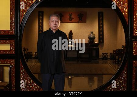 Antiquer and TV star Ma Weidu during an interview at his Guanfu Museum in Beijing  - 2013 - Stock Photo