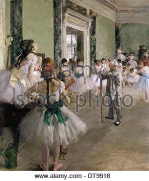The Ballet Class, Between 1871 and 1874. Artist: Degas, Edgar (1834-1917) - Stock Photo