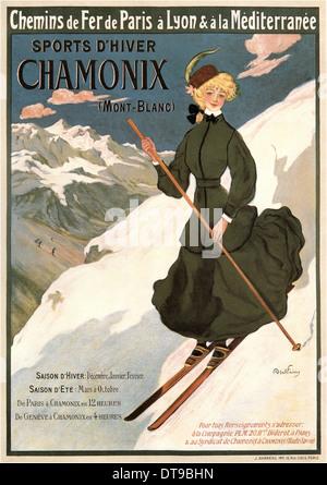 Chamonix Mont Blanc, 1905. Artist: Faivre, Abel (1853-1945) - Stock Photo