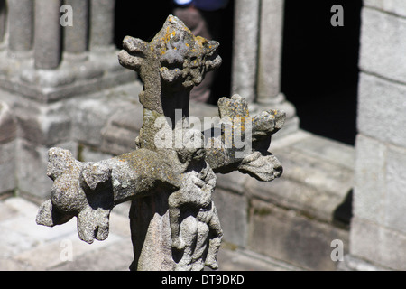 Porto Cathedral cloister detail - Stock Photo
