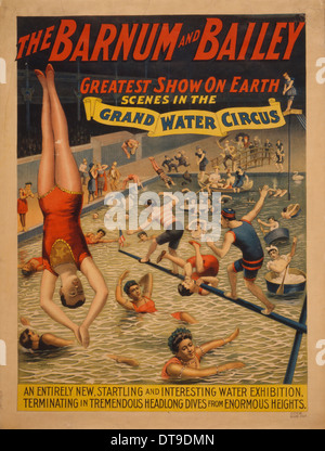 Scenes In The Grand Water Circus Poster For Barnum Bailey 1895 Vintage Advertising Poster Victorian Era Stock Photo Alamy
