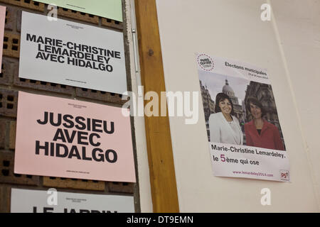 Paris, France. 11th Feb, 2014. Meeting of Anne Hidalgo, candidate for mayor of Paris in the 5th to give support - Stock Photo