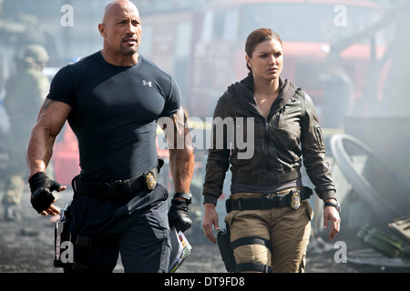 DWAYNE JOHNSON & GINA CARANO THE FAST AND THE FURIOUS 6 (2013) - Stock Photo