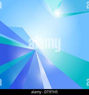 Blue abstract background vector corners in perspective. - Stock Photo