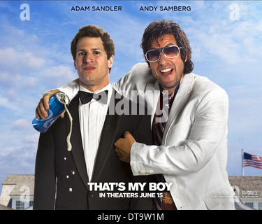 ANDY SAMBERG & ADAM SANDLER POSTER THAT'S MY BOY (2012) - Stock Photo