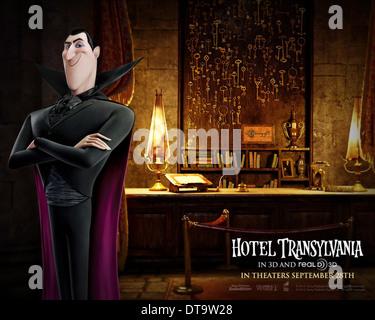 DRACULA POSTER HOTEL TRANSYLVANIA (2012) - Stock Photo