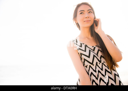 Portrait of Woman Outdoors - Stock Photo