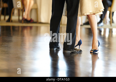 Close up of Couple Dancing, Low Section - Stock Photo