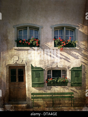 CH - FRIBOURG: Detail in Gruyeres - Stock Photo