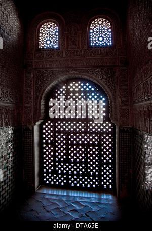 Granada, Alhambra Nasridenpalast Nasridenpaläste (Palacios Nazaries) - Stock Photo