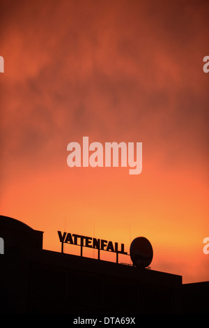 Berlin, Germany, the Vattenfall cogeneration plant center - Stock Photo