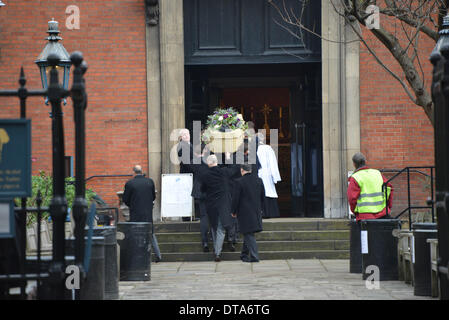 London UK, 13th Feb 2014 : Roger Lloyd-Pack as Trigger in Only Fools and Horses memorial service at the Actors' - Stock Photo