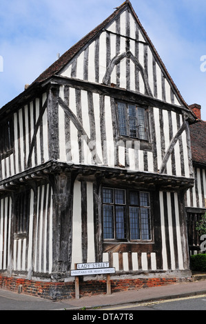 The Old Wool Hall, Lady Street, Lavenham, Suffolk. - Stock Photo