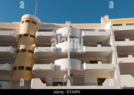 modern apartment building in the Algarve Portugal - Stock Photo