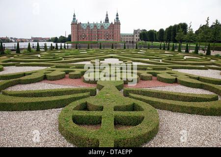 Hillerød, Schloss Frederiksborg (dänisch Frederiksborg Slot) - Stock Photo