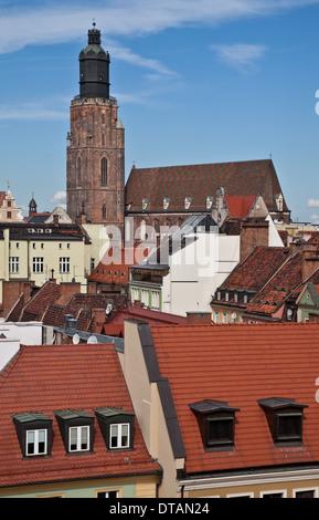 Wroclaw Breslau, Elisabethkirche - Stock Photo