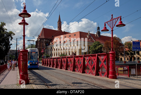 Wroclaw Breslau, Sandbrücke 1861 von E. Uber - Stock Photo