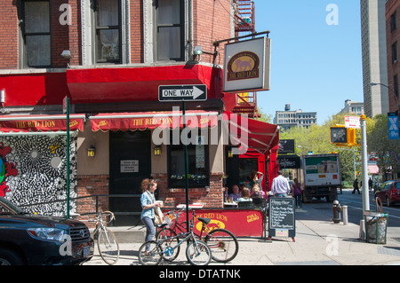 The Red Lion, on Bleecker St in Manhattan New York City, USA - Stock Photo