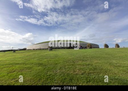 Newgrange, Prehistoric monument, UNESCO World Heritage Site. - Stock Photo