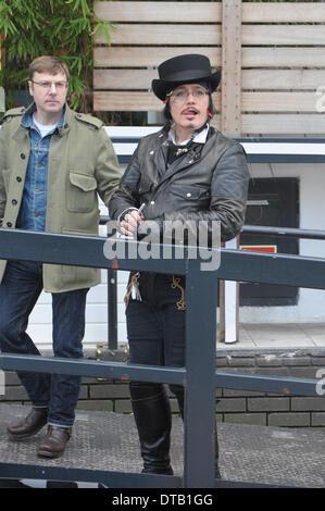 London, UK. 13th Feb, 2014. Adam Ant  Stuart Leslie Goddard appears on This Morning at ITV studios London 13/02/2014 - Stock Photo