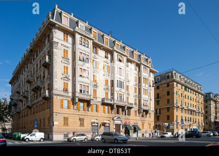 Genoa, Italy, residential buildings in Corso Sardegna in Genova Marassi - Stock Photo