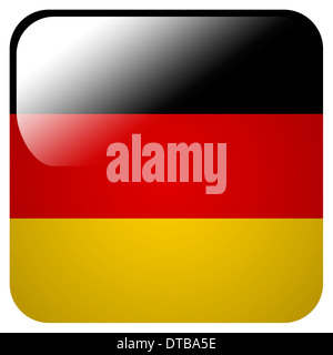 Glossy icon with flag of Germany - Stock Photo