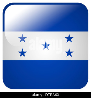 Glossy icon with flag of Honduras - Stock Photo