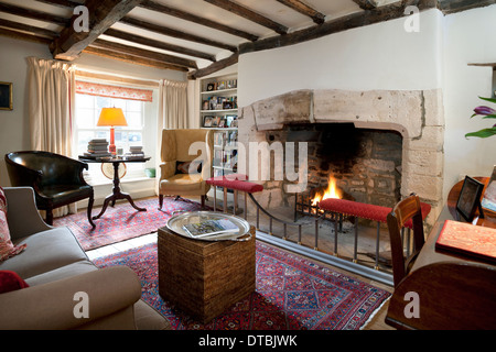 Large Open Fireplace In A Period Home Living Sitting Room