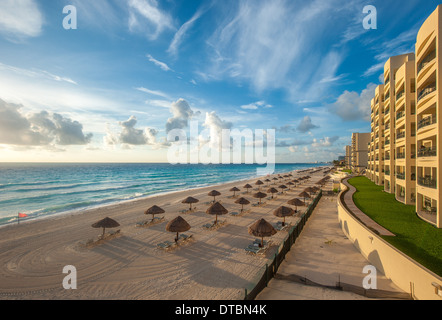 Cancun beach panorama, Mexico - Stock Photo