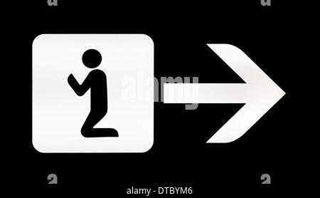 Islamic Prayer Room Area Sign Symbol Logo Icon Illustration Stock