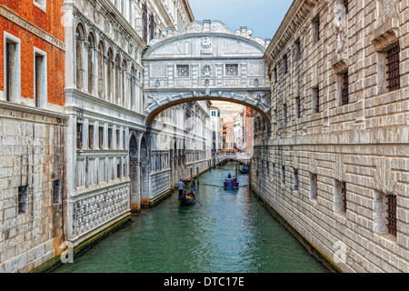 Bridge of Sighs in Venice. (HDR image) - Stock Photo