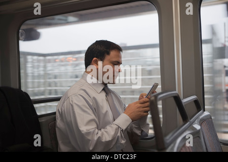 Businessman commuting to work - Stock Photo